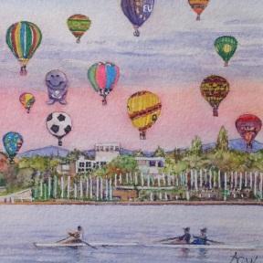 Arlene_Balloons celebrate over Questacon